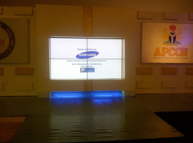A Video Wall used in an event