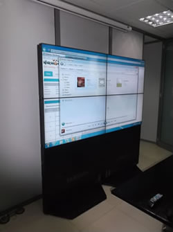 A 2 by 2 Video Wall on Display